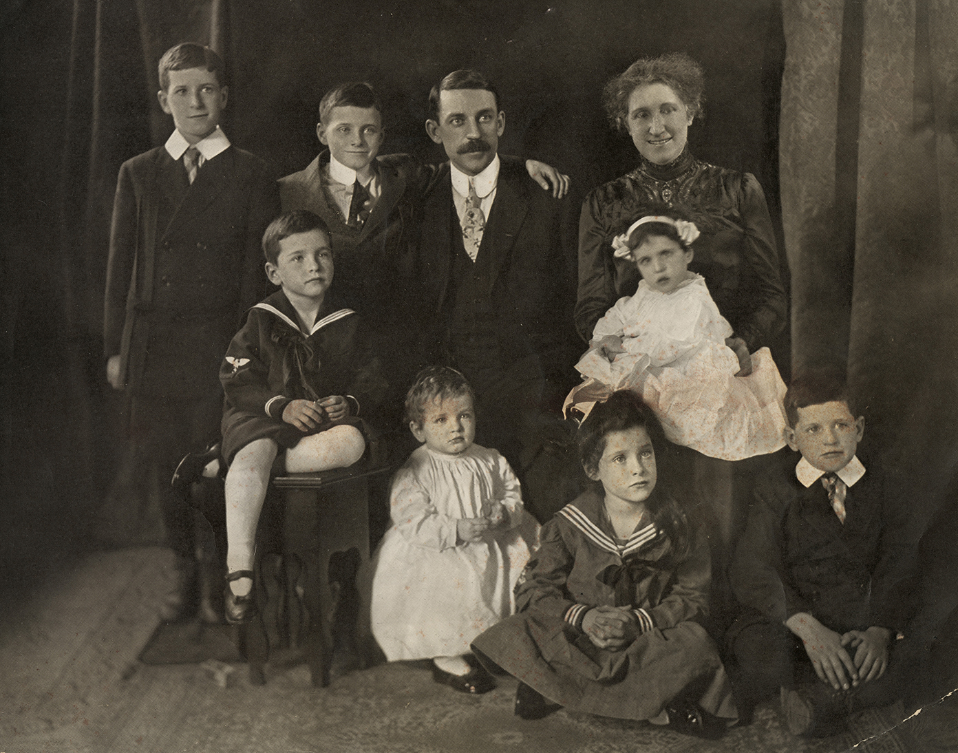 Thomas A. Daly (with wife and children)
