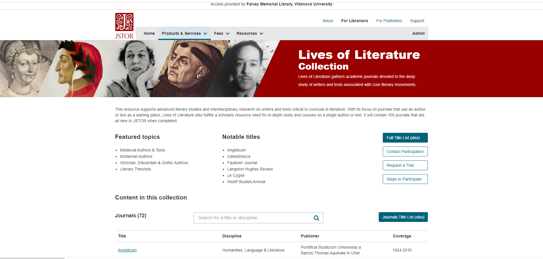 lives of literature database picture