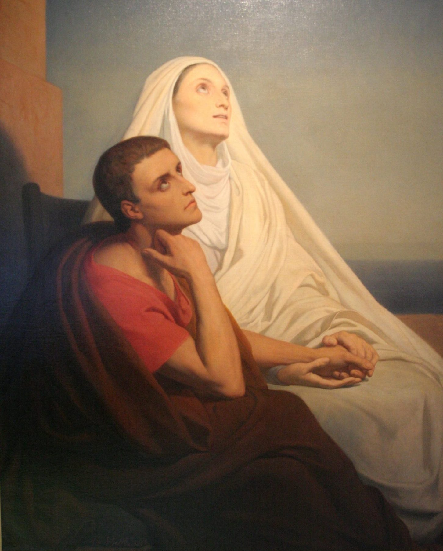 Augustine of Hippo and his mother Saint Monica by Ary Scheffer (1795-1858) From WikiCommons