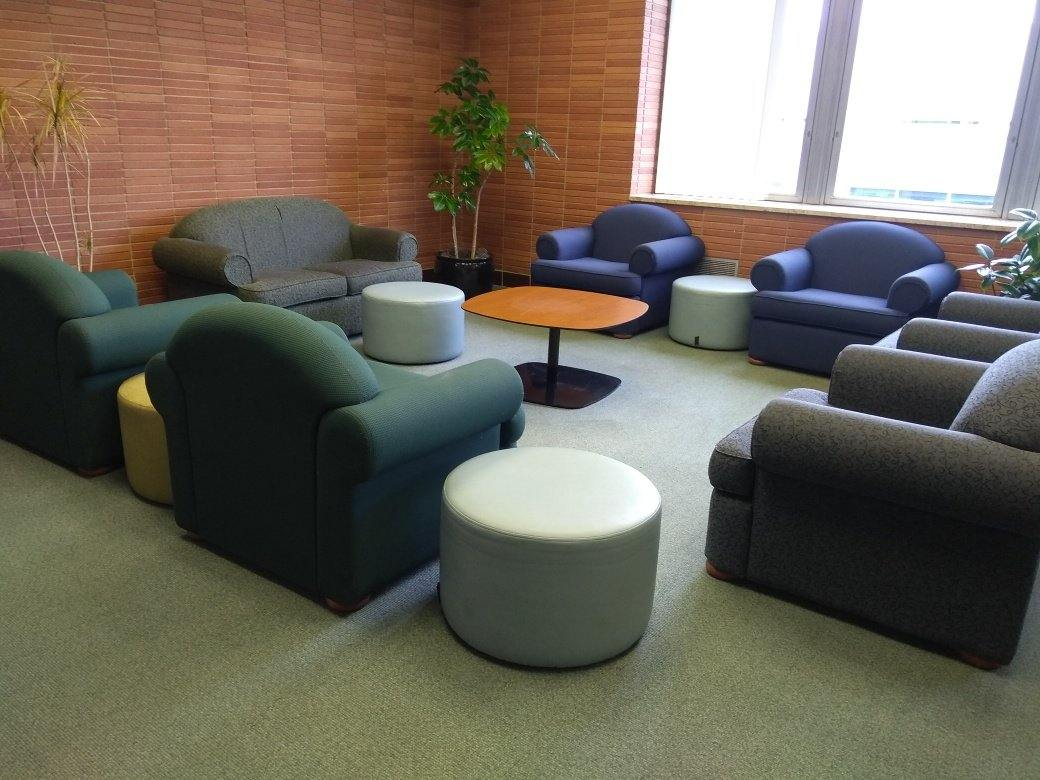 Image of Falvey Library's third floor.