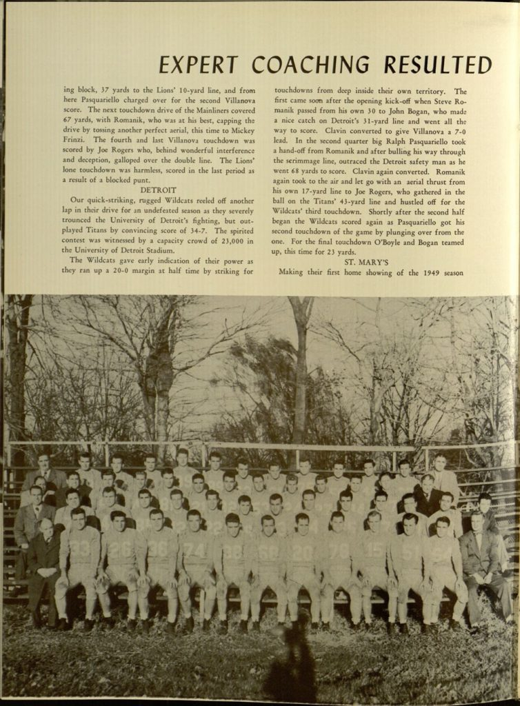 Image featured in the 1949 Belle Air yearbook (p. 200).