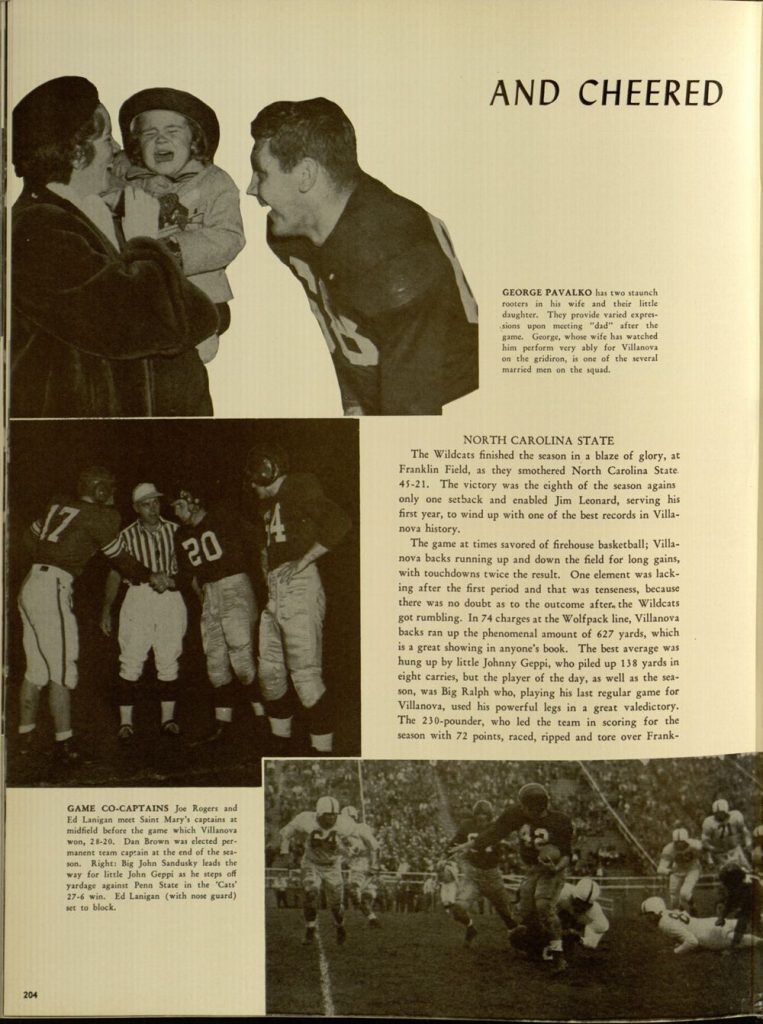 Image featured in the 1949 Belle Air yearbook (p. 204).