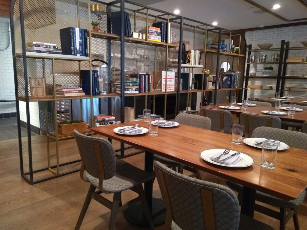 """Photo of """"The Library"""" (The largest semi-private dining area in The Refectory)."""