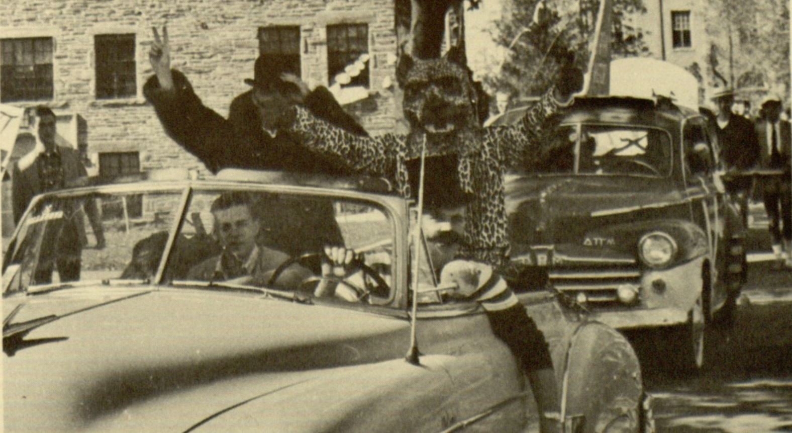 homecoming parade, 1956